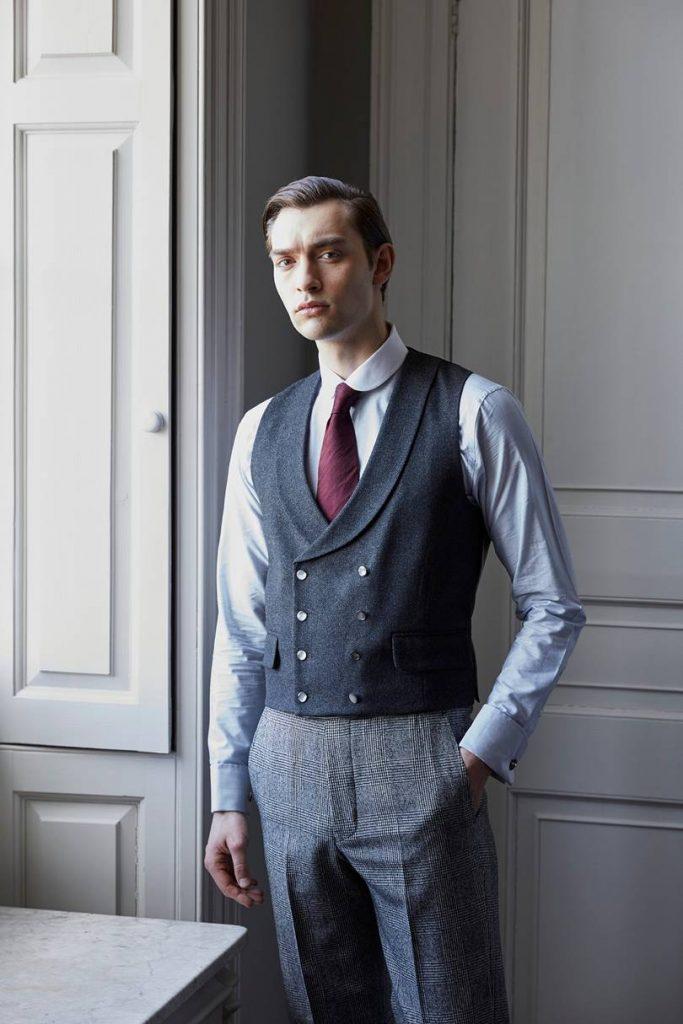 Gilet de costume avec 2 rangées de boutons