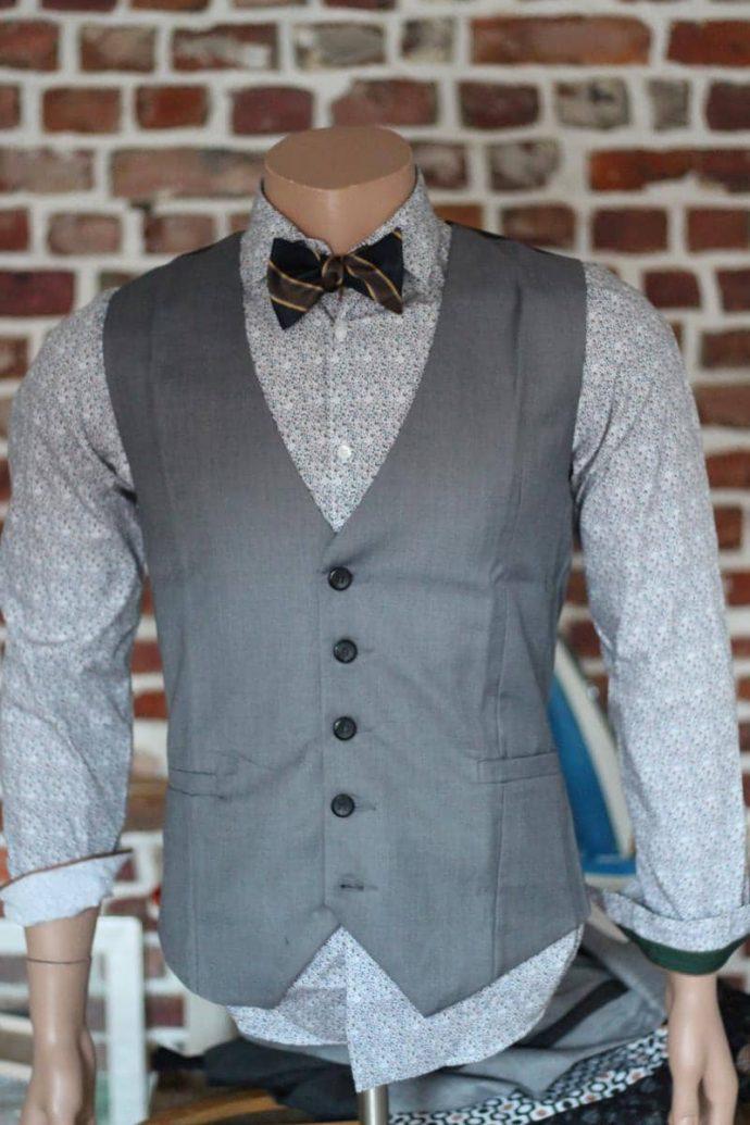 Gilet de costume pour homme sans manche