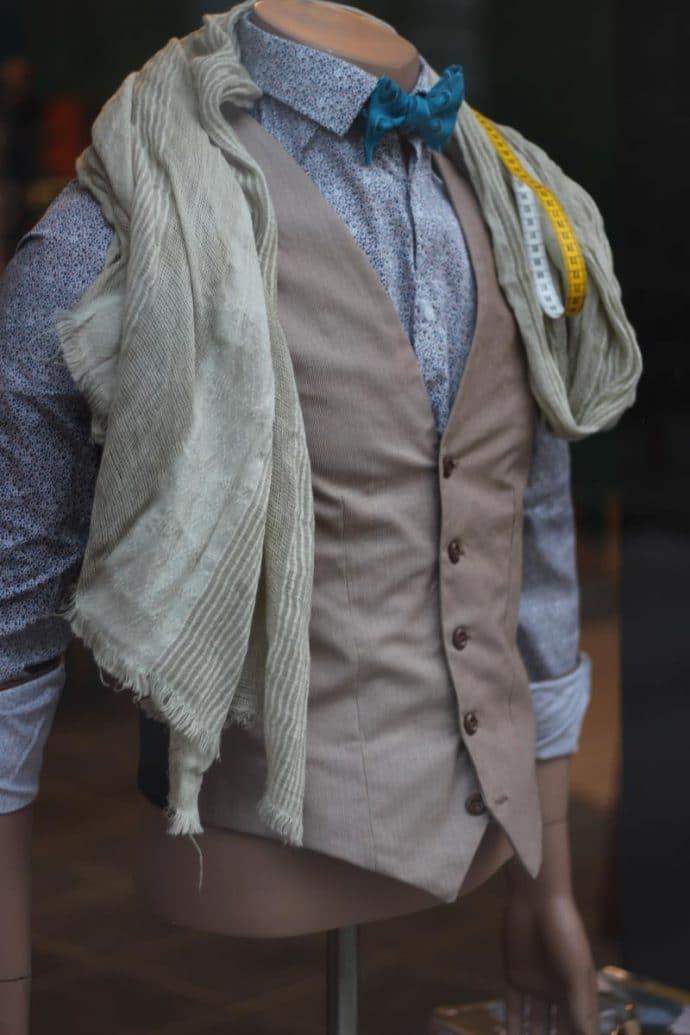 Gilet de costume homme en coton sans poche
