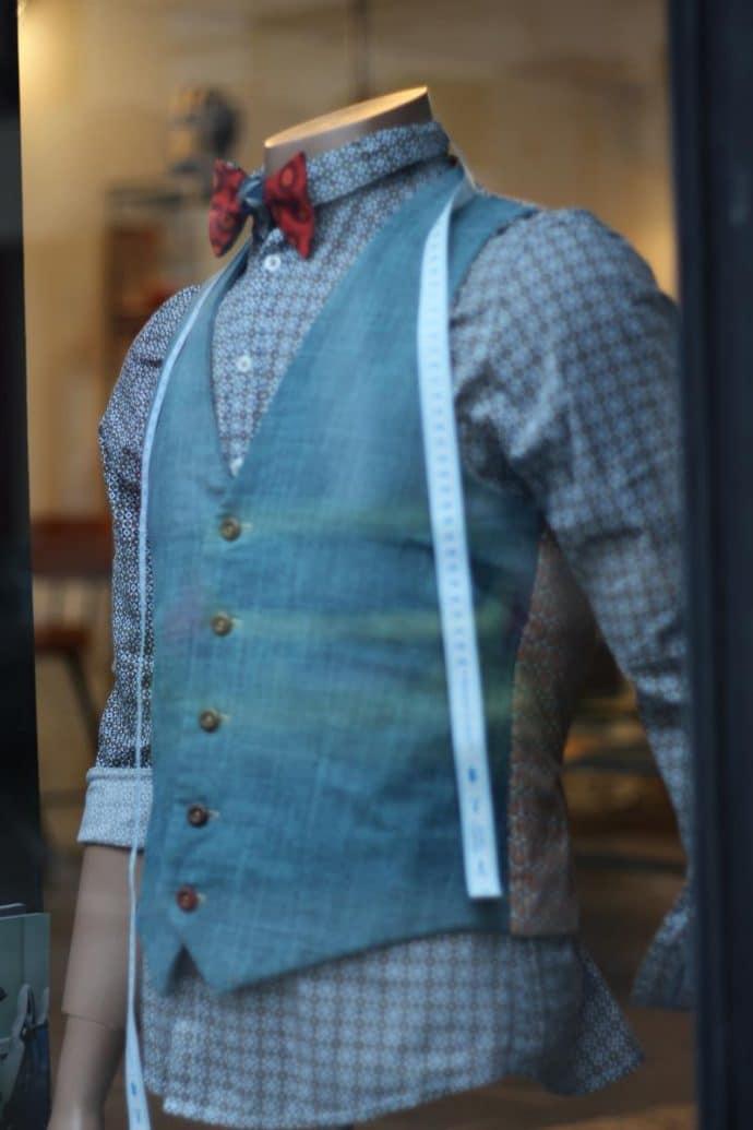 gilet de costume en lin et coton