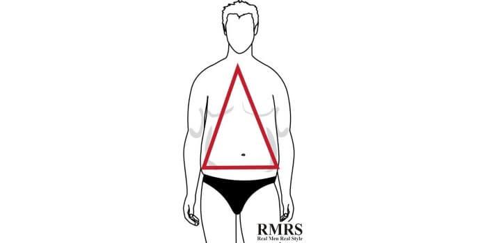 forme du corps triangle